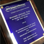 Robert Anolik, M.D., named Surgical Attending of the Year by NYU Deparment of Dermatology