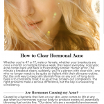 """""""How to Clear Hormonal Acne"""" Robert T. Anolik, M.D., featured in goop magazine"""