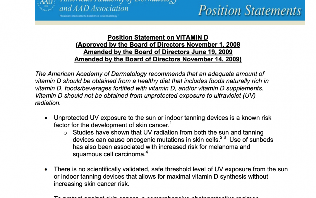 american academy of dermatology vitamin d skincare