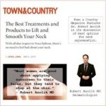 The Best Treatments and Products to Lift and Smooth Your Neck, Robert Anolik, M.D., featured in Town & Country Magazine!