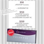 Special rebate offers on Botox®, Juvederm XC® or Juvederm Voluma XC® from Allergan, Inc.