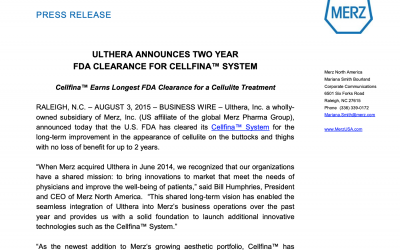 Press Release – Cellfina™ Earns Longest FDA Clearance for a Cellulite Treatment