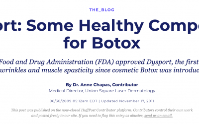 Dysport: Some Healthy Competition for Botox