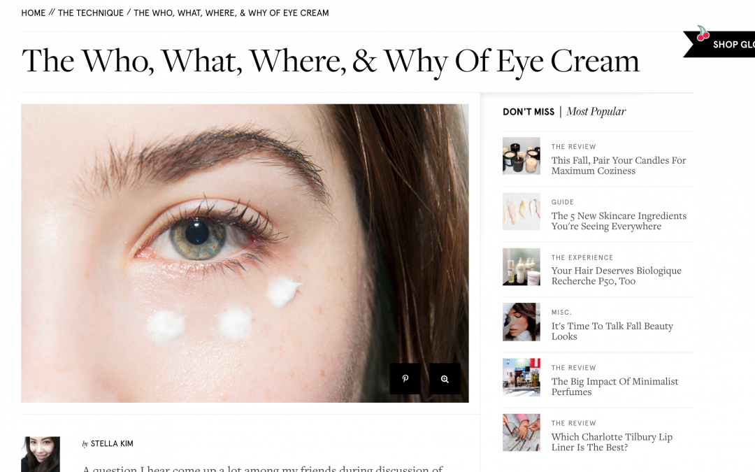 article about eye creams in new york
