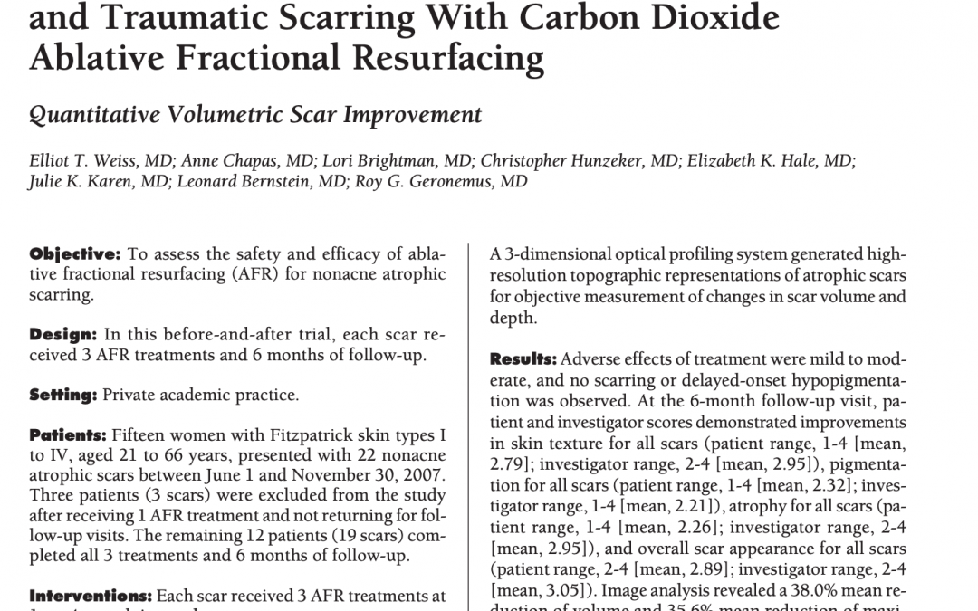 fraxel laser resurfacing article in new york