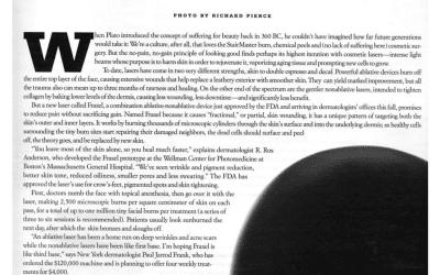 W magazine features Dr. Roy Geronemus