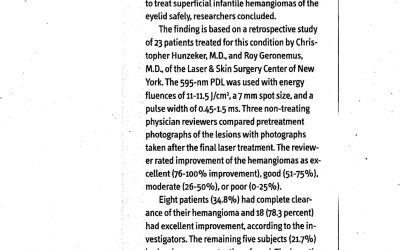 Drs Hunzeker & Geronemus featured in APN mag