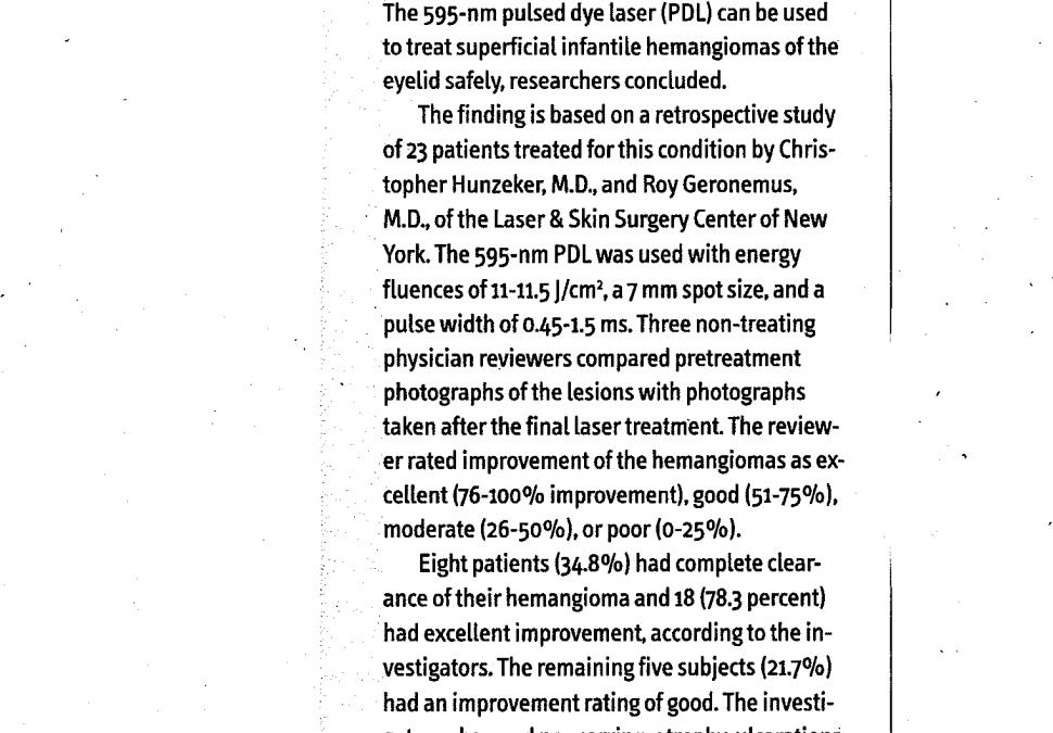 hemangioma treatment article in new york