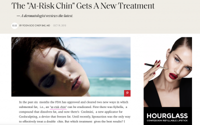 Yoon-Soo Cindy Bae, M.D., featured in ELLE magazine, Kybella vs Coolmini.