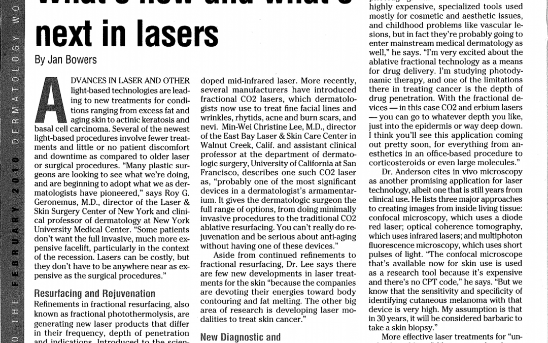 laser dermatology treatment article in new york