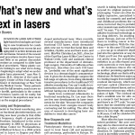 What's new and what's next in laser