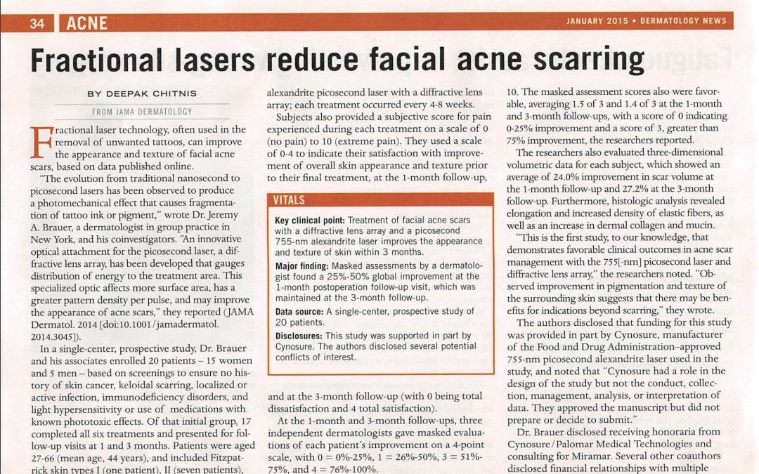 fraxel laser acne treatment article in new york