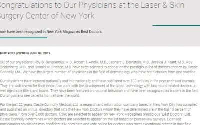 Congratulations to Our Physicians at the Laser & Skin Surgery Center of New York
