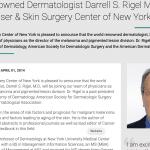 Laser & Skin Surgery Center of New York welcomes, Darrell S. Rigel, M.D.