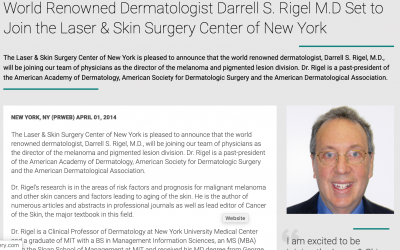 Laser & Skin Surgery Center of New York welcomes, Darrell S. Rigel, M.D.