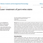 Our physicians have a new publication in Clinical, Cosmetic and Investigational Dermatology.