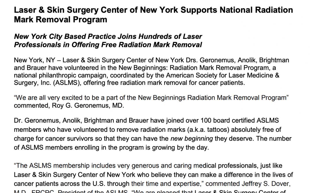 radiation tattoo removal new york