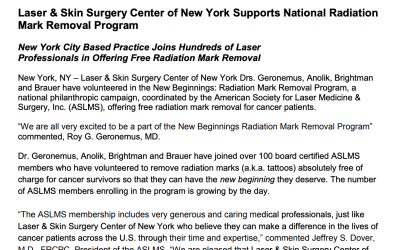 Press Release – Physicians of LSSC are participating in the ASLMS New Beginnings: Radiation Mark Removal Program