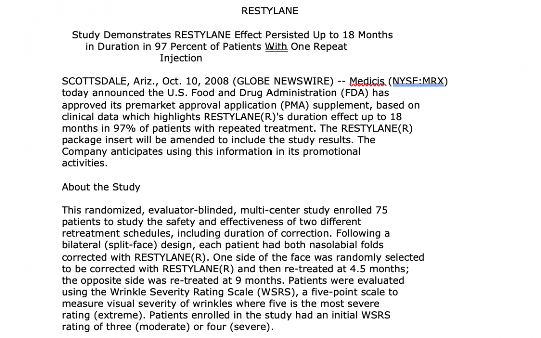 restylane wrinkle smoooter article new york