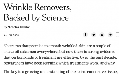 NY Times features wrinkles removers
