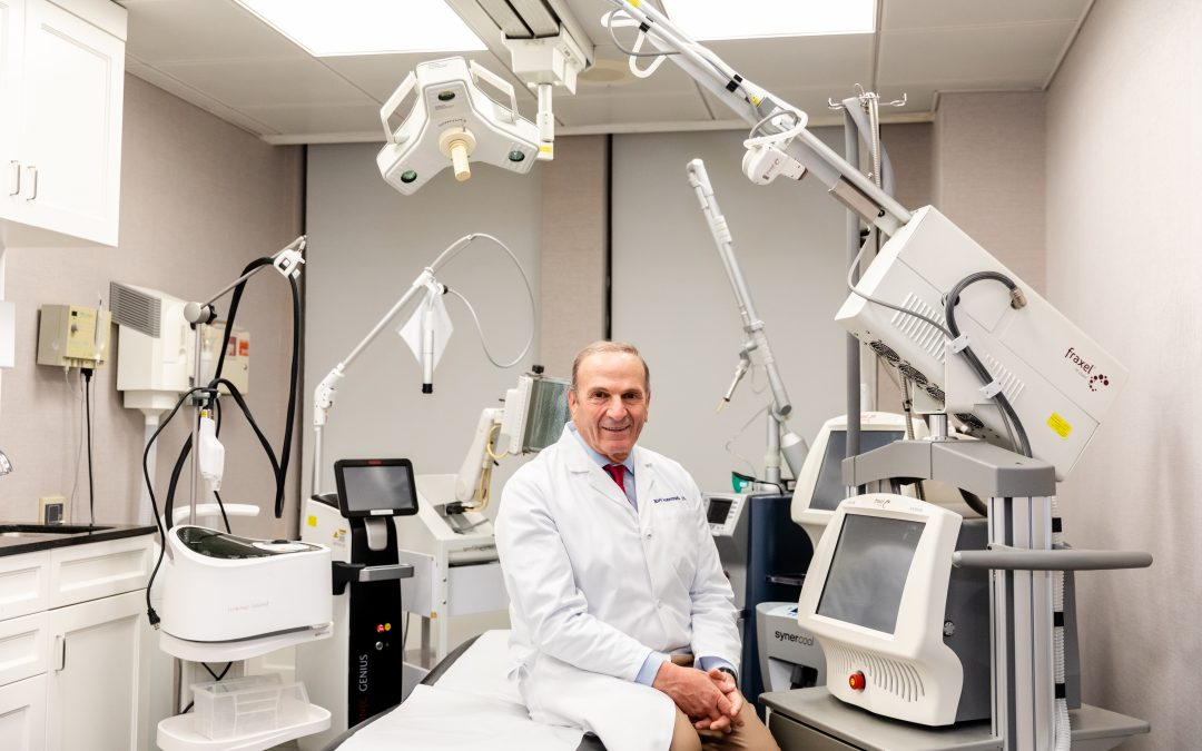 Photo of Dr Geronemus sitting in a treatment room at Laser & Skin Surgery Center of New York, NY
