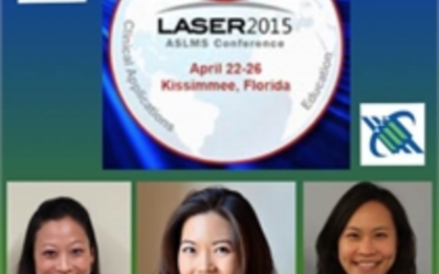 Yoon-Soo Cindy Bae, M.D., receives award for best resident/fellow abstract at the 2015 ASLMS conference.