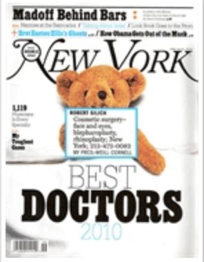 Dr. Roy Geronemus listed amongst New York Magazine's Best Doctors for 2010