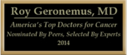Roy G. Geronemus, M.D., named by peers to America's Top Doctors for Cancer