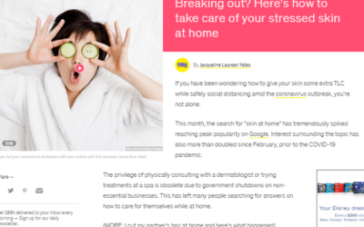 Taking Care of Stressed Skin at Home, Michelle Henry M.D., featured in GMA
