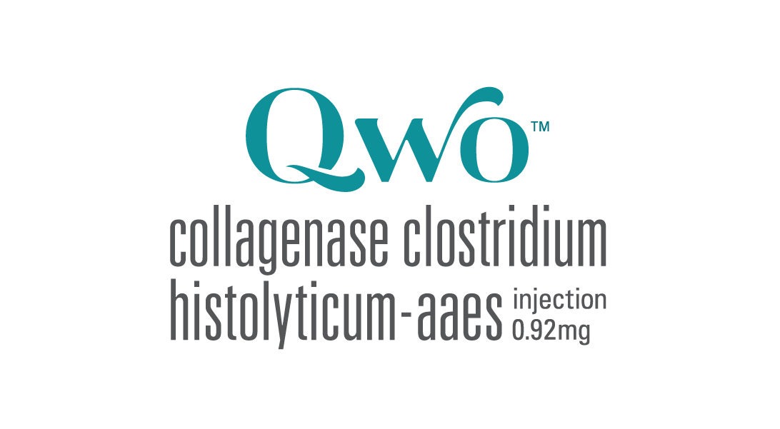 Image showing logo, full name and dosage of QWO injections for cellulite treatment, New York City, NY