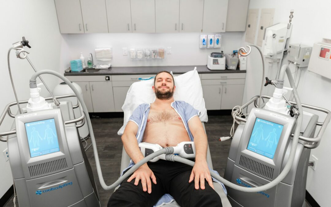 medical clinic patient undergoing a body contouring treatment at Laser & Skin Surgery Center of New York in Manhattan, NY