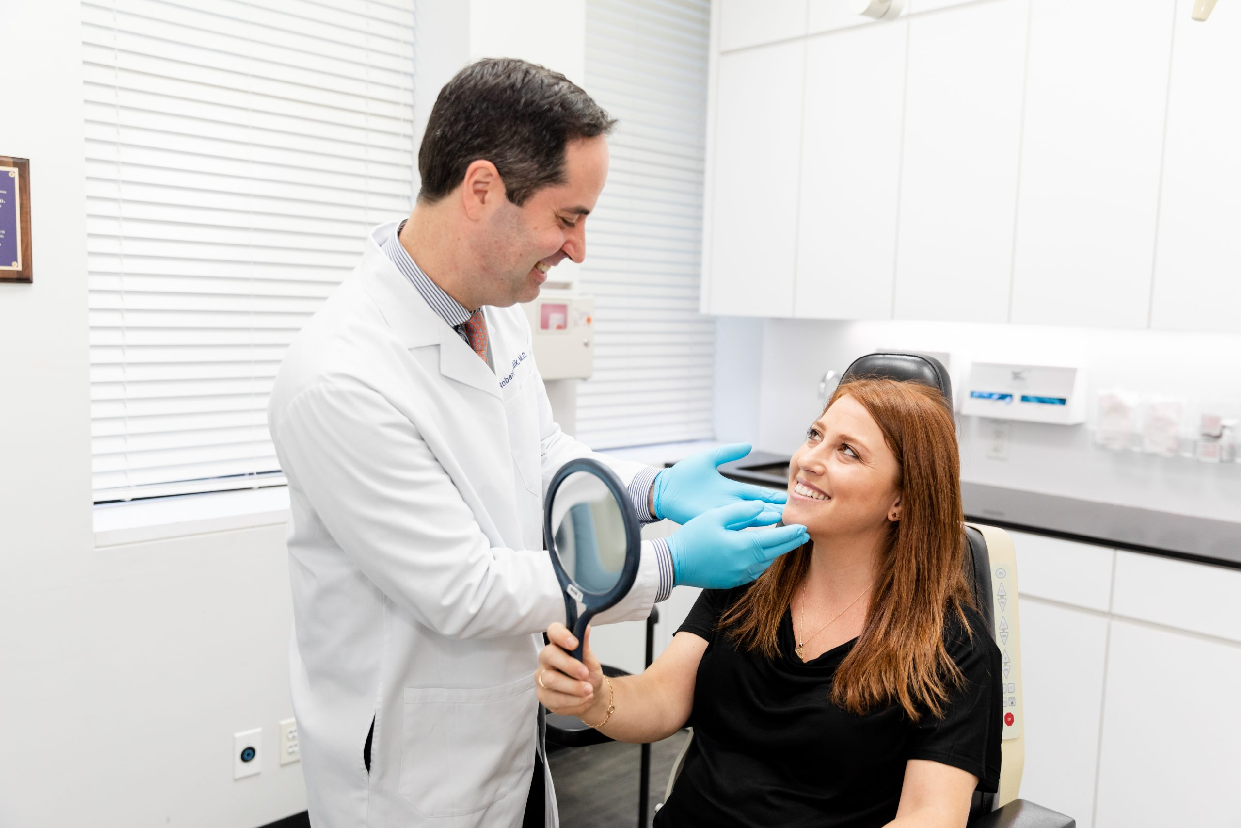 dermatologist consulting with a patient for a LaseMD laser treatment in NY, NY