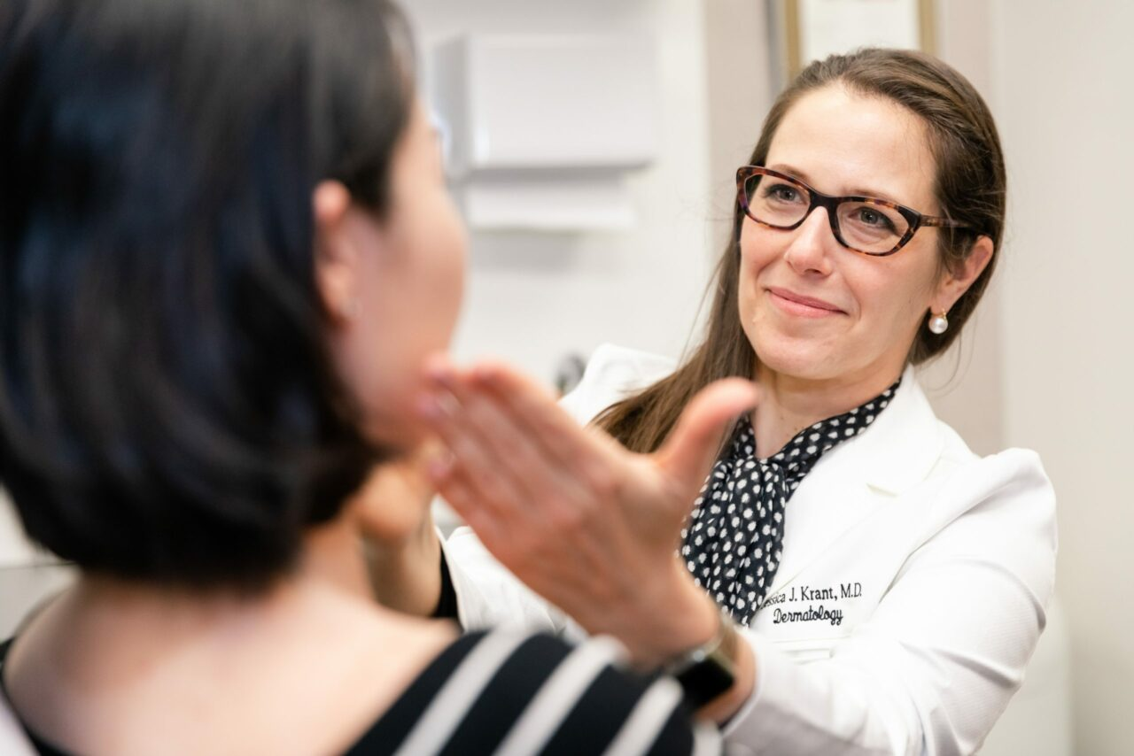 dermatologist in NYC consulting with a patient about popular cosmetic procedures for millennials